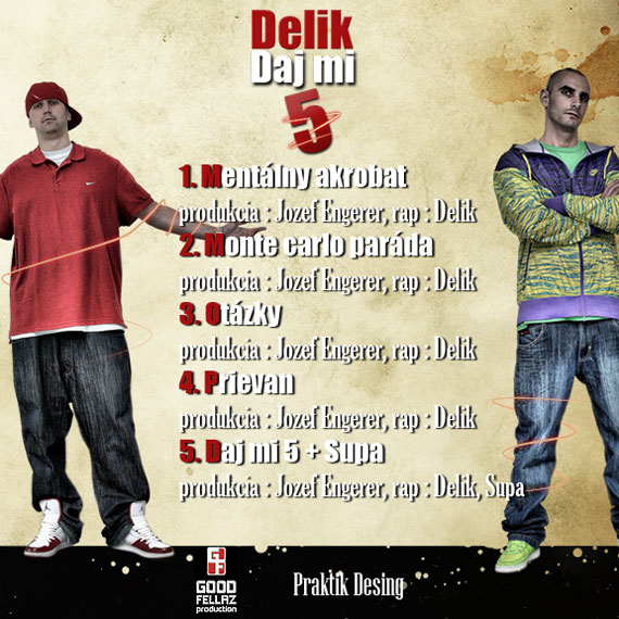 Delik - Daj mi 5 EP (back cover)